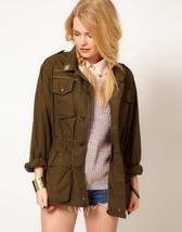 Vintage Women's Italian Army field jacket olive khaki military coat - $25.00