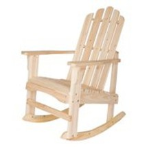 Outdoor Rocking Chair in Natural Finish for Patio Garden Backyard Rest C... - $113.39