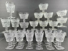 Imperial Glass Ohio Cape Cod Clear Wine Champagne Goblet Sundae Set Vint... - $168.17