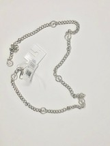 NWT Michael Kors Women Size Large-XL Silver Logo Chain Belt MK Metal - $39.99