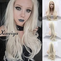 Heat resistant synthetic lace front wig light blonde nature wave Platinu... - $41.85