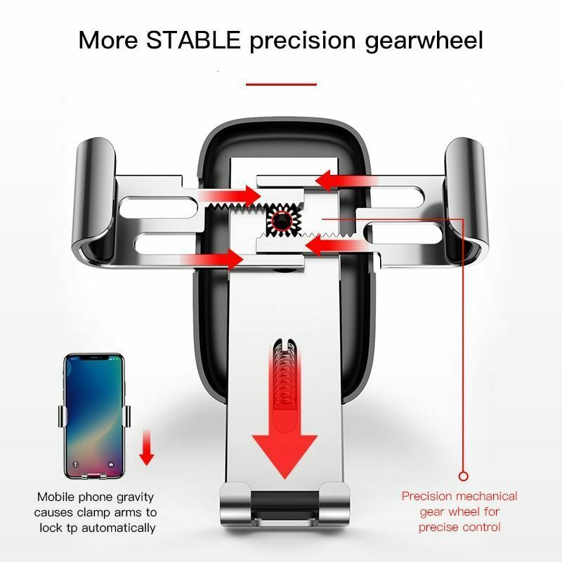 """Car Mobile Holder 4-6.0"""" Air Vent Mount Metal Gravity Universal Smartphone Stand image 3"""