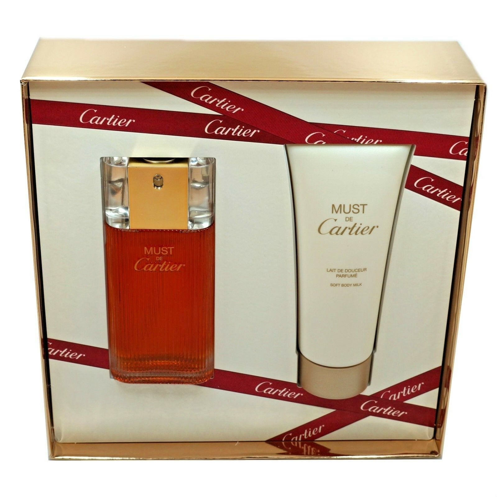 MUST DE CARTIER 2PC GIFT SET EAU DE TOILETTE NATURAL SPRAY 50ML NIB image 2