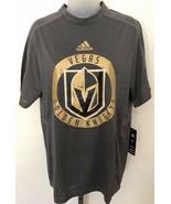 NWT! Womans ADIDAS sz S VEGAS GOLDEN KNIGHTS gray training tee shirt $68 - $39.59