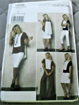 Pattern Vogue Wardrobe Top Skirt Pants V8938 Uncut Factory Folded - $12.85