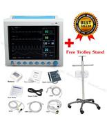 ICU Patient Monitor,ECG NIBP SPO2 RESP TEMP PR,Vital Signs Monitor,Troll... - $791.01