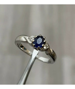 9ct Gold Sapphire And Diamond Ring Size J  BHS - $268.79