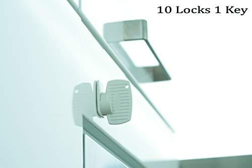 Babydan Magnetic Lock Set - Child Safety Lock System - Strong Adhesive Magnetic