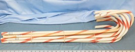 Lot of 9 Large Red and White Stripe Candy Cane Christmas dq - $29.69