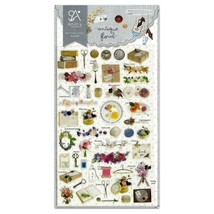 ✰ CUTE COLORFUL PIG BIRD /& CHICKEN GEL STICKERS Epoxy Sticker Sheet Scrapbook