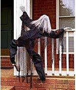 63 Life Size Climbing Zombies Halloween Haunted House Prop Decor (black) - $58.98