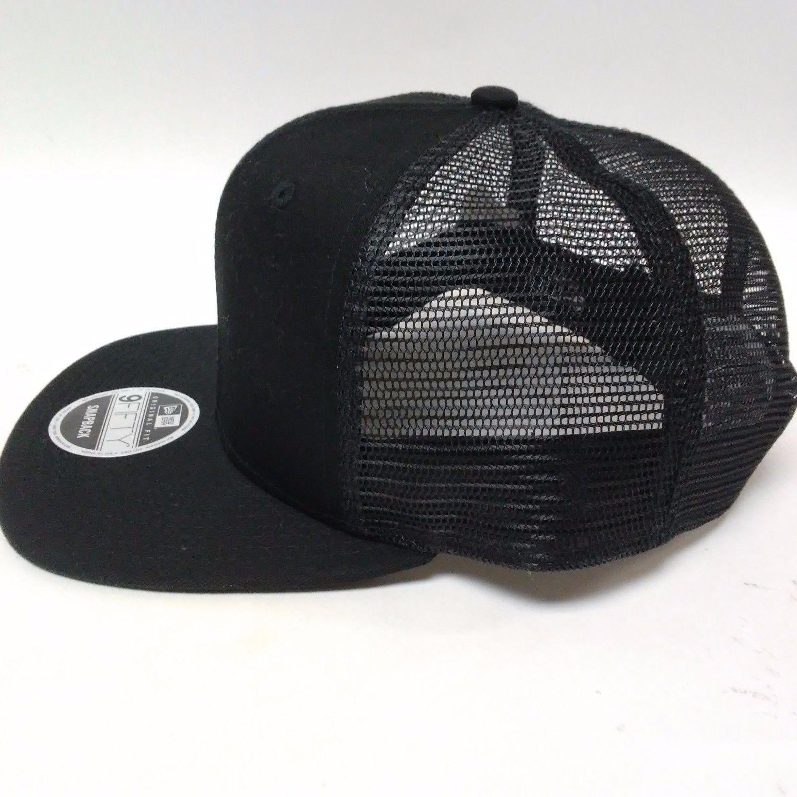 spain new era 9fifty snapback trucker cap blank black mesh flat 187d8 58ee7 9470d8445c79