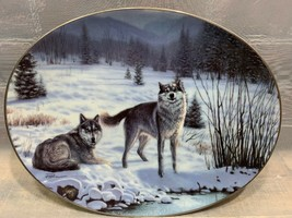 Forest Sentinels Shadow Guardians #1583A Bradford Exchange Plate Wolf Wolves - $8.90
