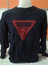 Vintage Guess By Georges Marciano Big Embroidery Logo SpellOut Sweatshirt - $80.00