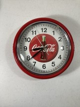 """Retro / Diner Style Coca Cola 9"""" Wall Clock - Works Great - $30.69"""