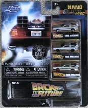 2020 Jada Nano Hollywood Rides Back To The Future Delorean Time Machine    - $14.95