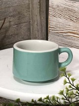 Shenango China Turquoise Cup with White Interior 1950s Restaurant Ware - £2.39 GBP