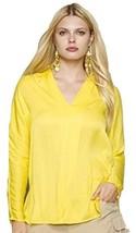 Ralph Lauren Blue Label Yellow Satin V Neck Blouse Mult Sz $225.00 - $89.99