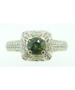14k White Gold .65ct Genuine Natural Alexandrite Ring with Diamonds (#J4... - $2,925.00