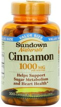 Cinnamon Capsules by Sundown, Support Sugar Metabolism, Non-GMOˆ, 200 Ca... - $19.79