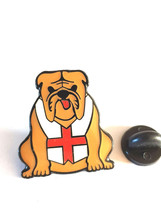 british bulldog brown colour with clip on rear Pin ,Badge / tie pin unisex gift