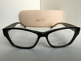 New LIU JO LJ 2634 001 Black 54mm Rx Cats Eye Women's Eyeglasses Frame  - $99.99