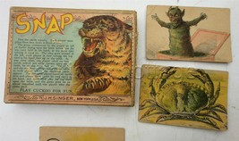 1890 antique victorian SNAP PLAY CUCKOO CARD GAME devil scary playing J.... - $175.00