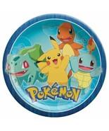 "Pokemon Core Classic 8 Ct Lunch Plates 9"" - $4.35"