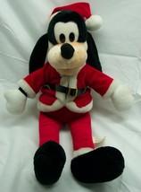 "Vintage Walt Disney HOLIDAY CHRISTMAS GOOFY AS SANTA 18"" Plush Stuffed A... - $29.70"