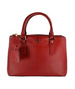 Tory Burch 36881/111395 Small Buckle Double Zip Leather Tote Kir Royale ... - $349.99