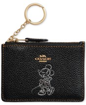COACH Minnie Mouse Motif Mini ID Skinny Wallet Disney ~NIB~ Gift BOX 37536B - $76.63