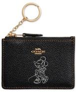 COACH Minnie Mouse Motif Mini ID Skinny Wallet Disney ~NIB~ Gift BOX 37536B - $76.63