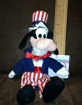 Disney Store Uncle Sam Goofy beanbag NWT Tag protector Good condition - $8.99