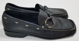 Franco Sarto Women's Black Loafers Size 5 Flats White Stitch detail Driv... - $954,08 MXN