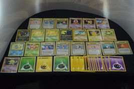 Vintage Pokemon Trainer Energy Card Lot Various Expansion Sets Jungle - $6.99