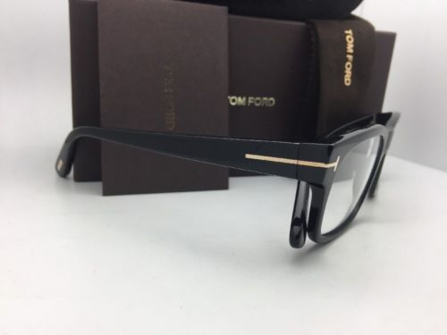 0b85796eb5f New TOM FORD Eyeglasses TF 5432 001 54-18 145 Polished Black and Gold Frames
