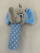 "Garanimals Gray Elephant Blue Rattle Plush 5"" Stars Stuffed Animal Toy - $9.95"
