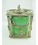 Vintage Chinese wine warming pot Metal & Glass signed - $153.45