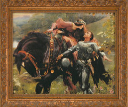 Enchanted Hearts - Frank Dicksee Canvas Giclee Framed - $168.29