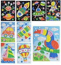 PANDA SUPERSTORE Astronauts & Spacecraft Sticky Mosaics for Kids Party Supplies,