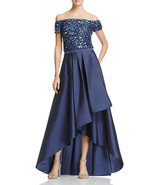 Adrianna Papell Sequined High Low Gown - $129.99