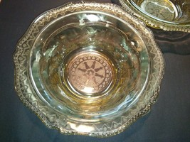 FEDERAL DEPRESSION PATRICIAN SPOKE GLASS LARGE FRUIT BOWL YELLOW AMBER 8... - $42.08
