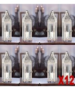 Set Of 12 Polished Ornate Candle Lanterns Wedding Party Events Centerpieces - $178.64