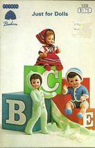 Just For Dolls Pattern Book No. 139 Patons Beehive Barbie Ken Clothing - $6.99
