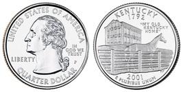 2001 P Kentucky BU (Brilliant Uncirculated) State Quarter Philadelphia Mint - $9.99