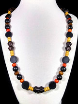 """21"""" All wood bead necklace - $50.00"""