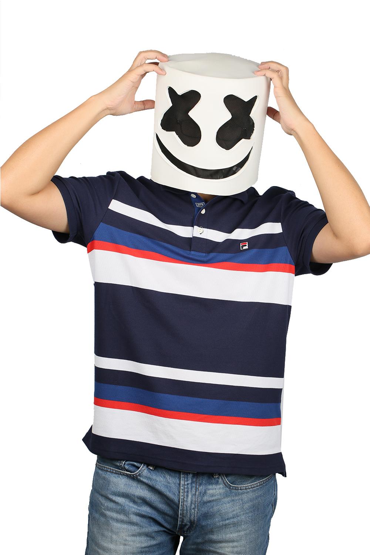 XCOSER Marshmello Helmet Full Head Latex Mask Marshmello Cosplay Mask image 3