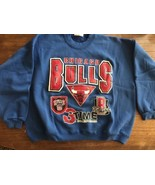 Rare vintage Chicago Bulls 3 Peat time finals champions sweatshirt XL Jo... - $37.99