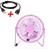 """Mini Fan,Portable Fan, USB Fan, Desktop Fan(Pink with 1.4M extension cord,4"""") - $20.86"""