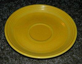Vintage Fiesta Ware Fiestaware Saucer Original 1930s Yellow 6-inch Diameter - $14.00